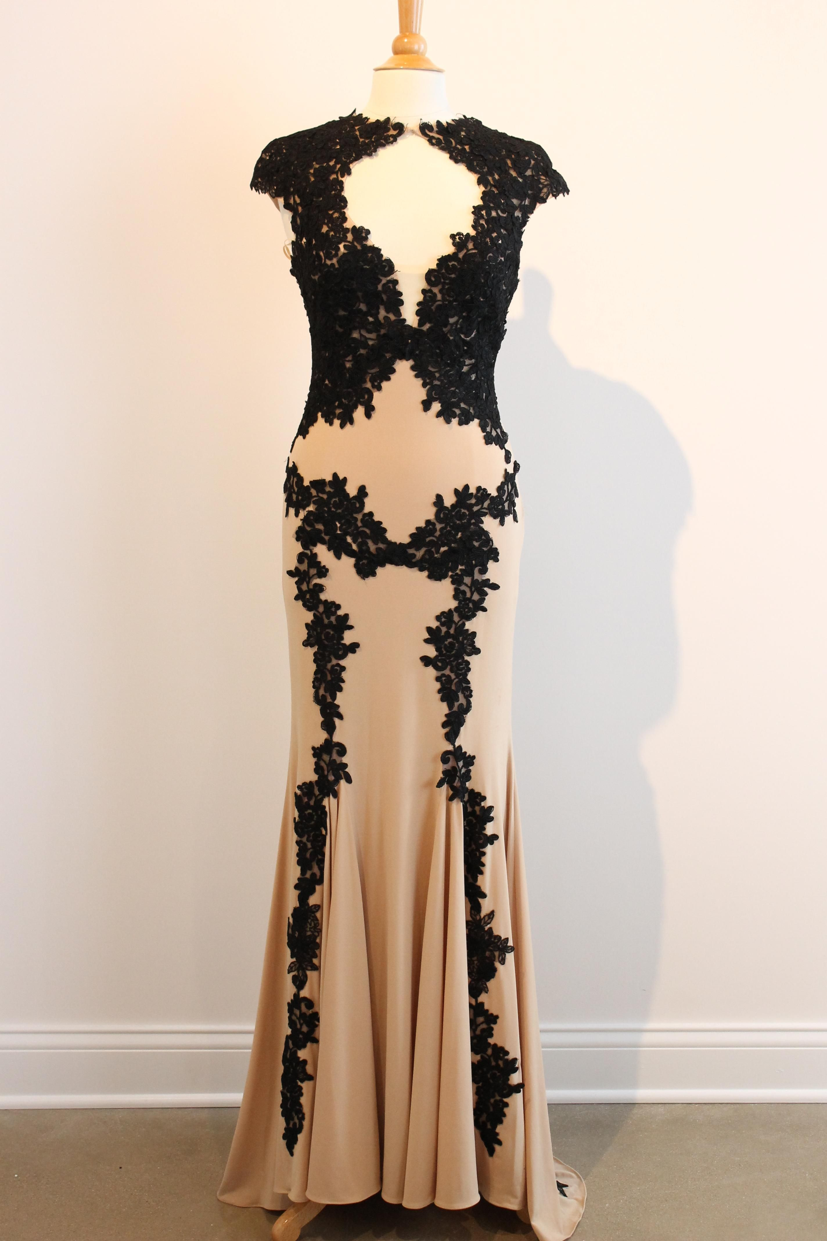 Nudeblack formal dress front lace authenticity and nude