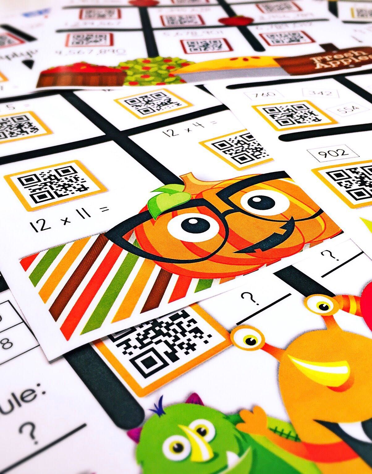 4th Grade October Qr Code Printables