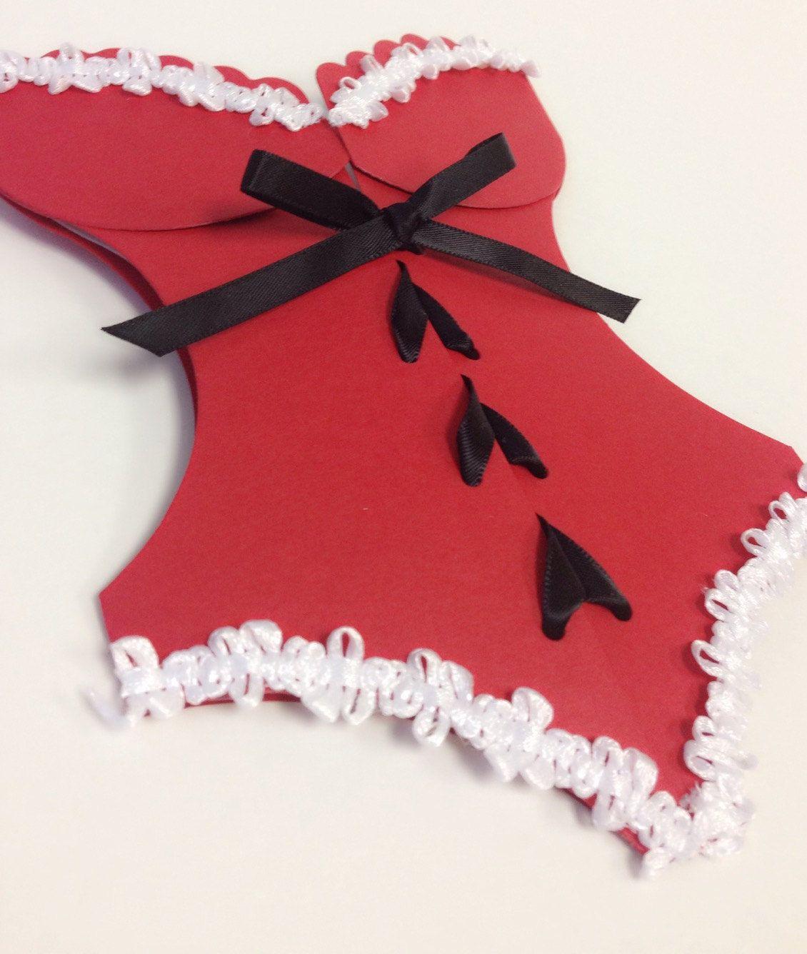 Corset Bachelorette Bridal Shower Invitations, Santa Suite Corset ...