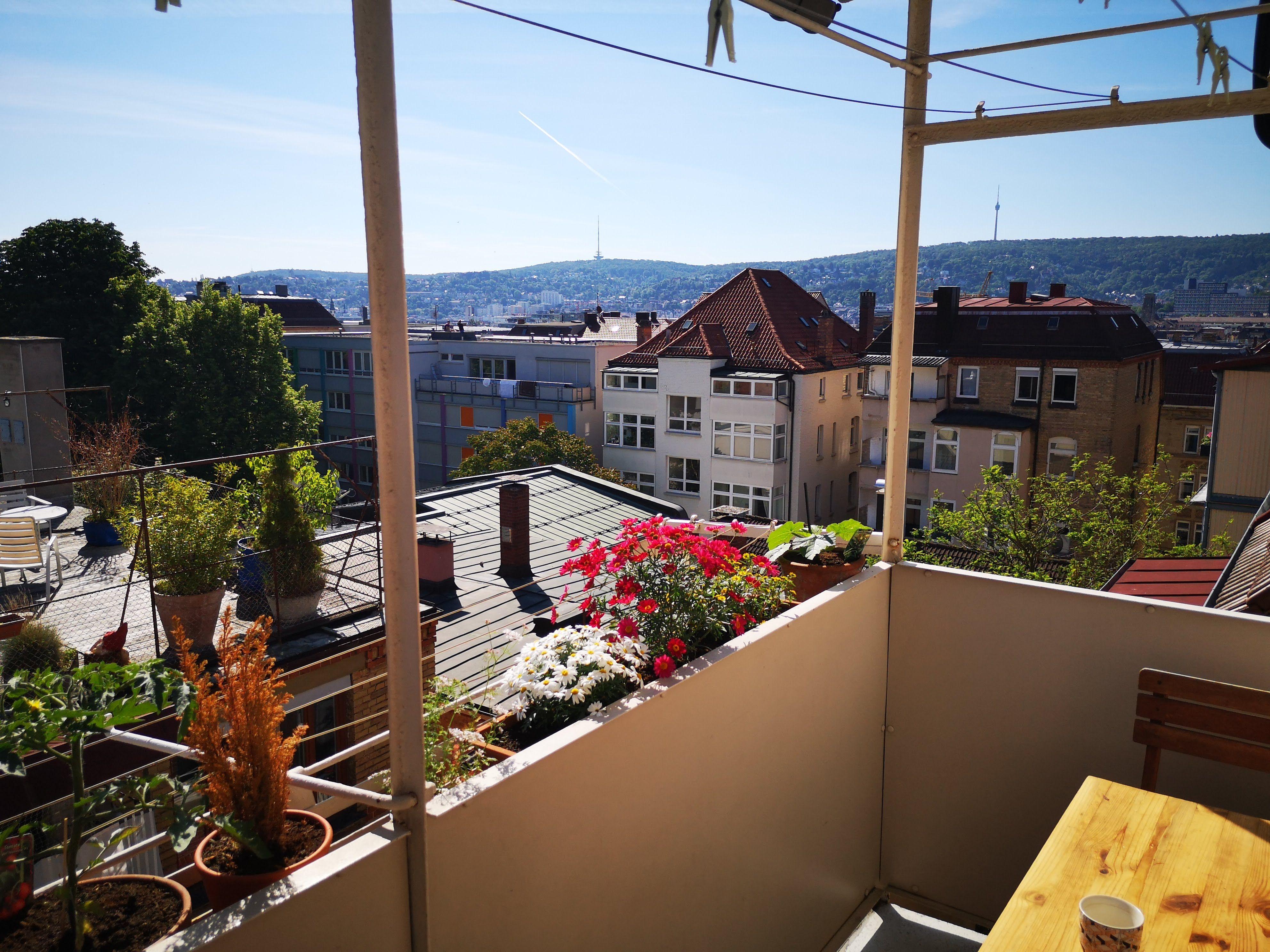 Schoner Kesselblick Im Stuttgarter Westen Altbau Moderne Bader Balkon Pflanzen