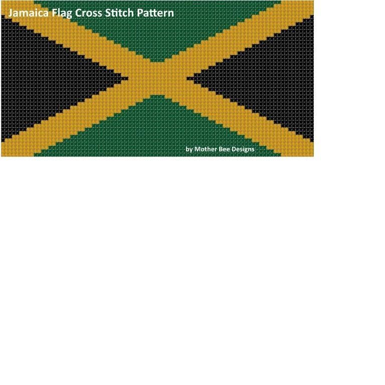 Jamaica Flag Cross Stitch Pattern | farmville | Pinterest