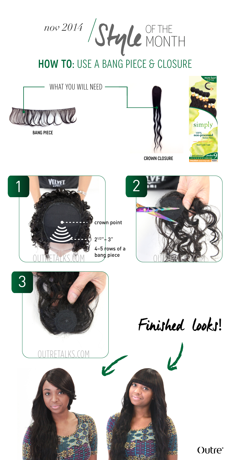How to use Simply Perfect 9 bang piece and closure | Quickweaves ...