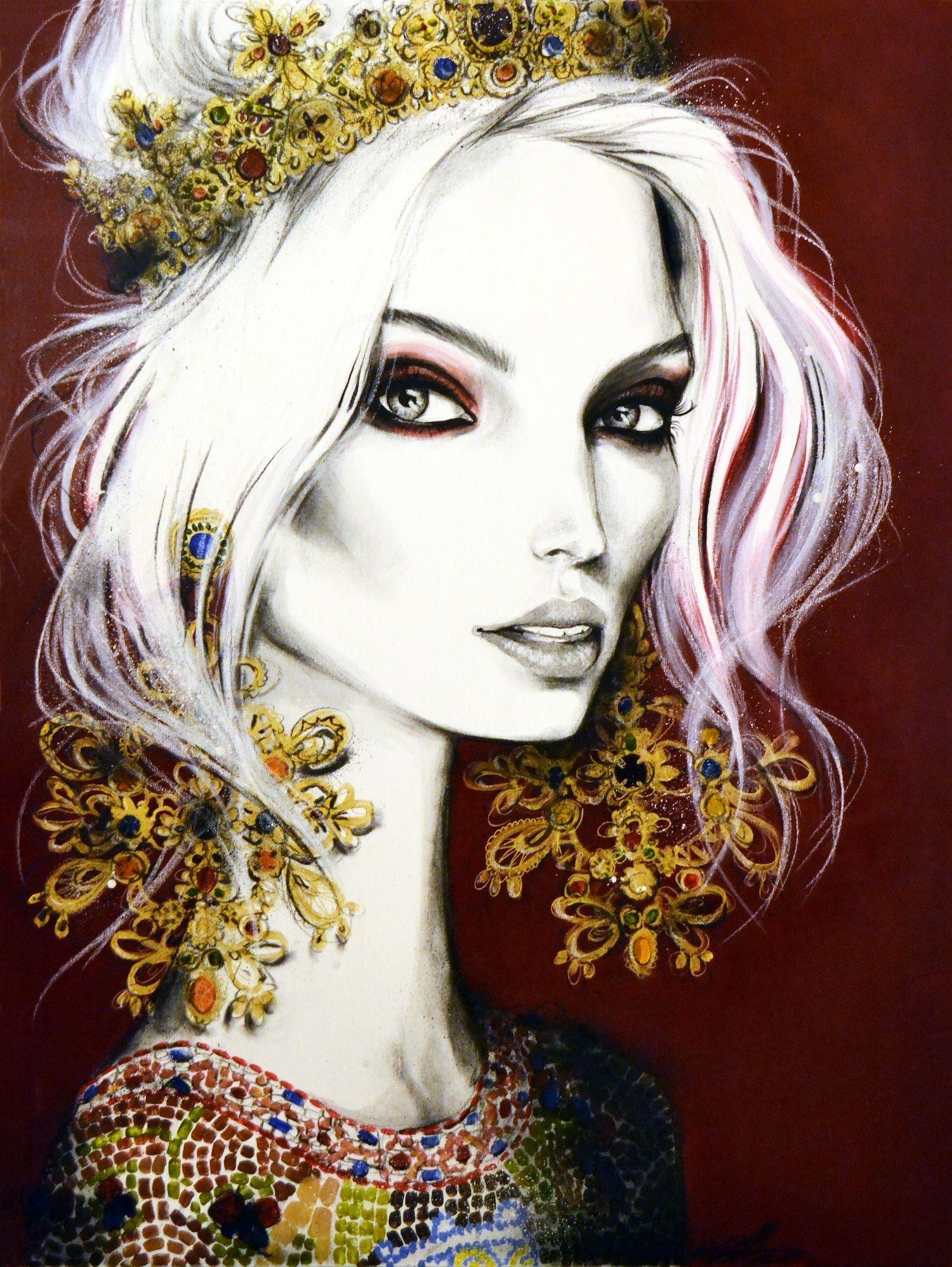 Illustration.Files: Dolce & Gabbana F/W 2013 Fashion Illustration by Pippa McManus