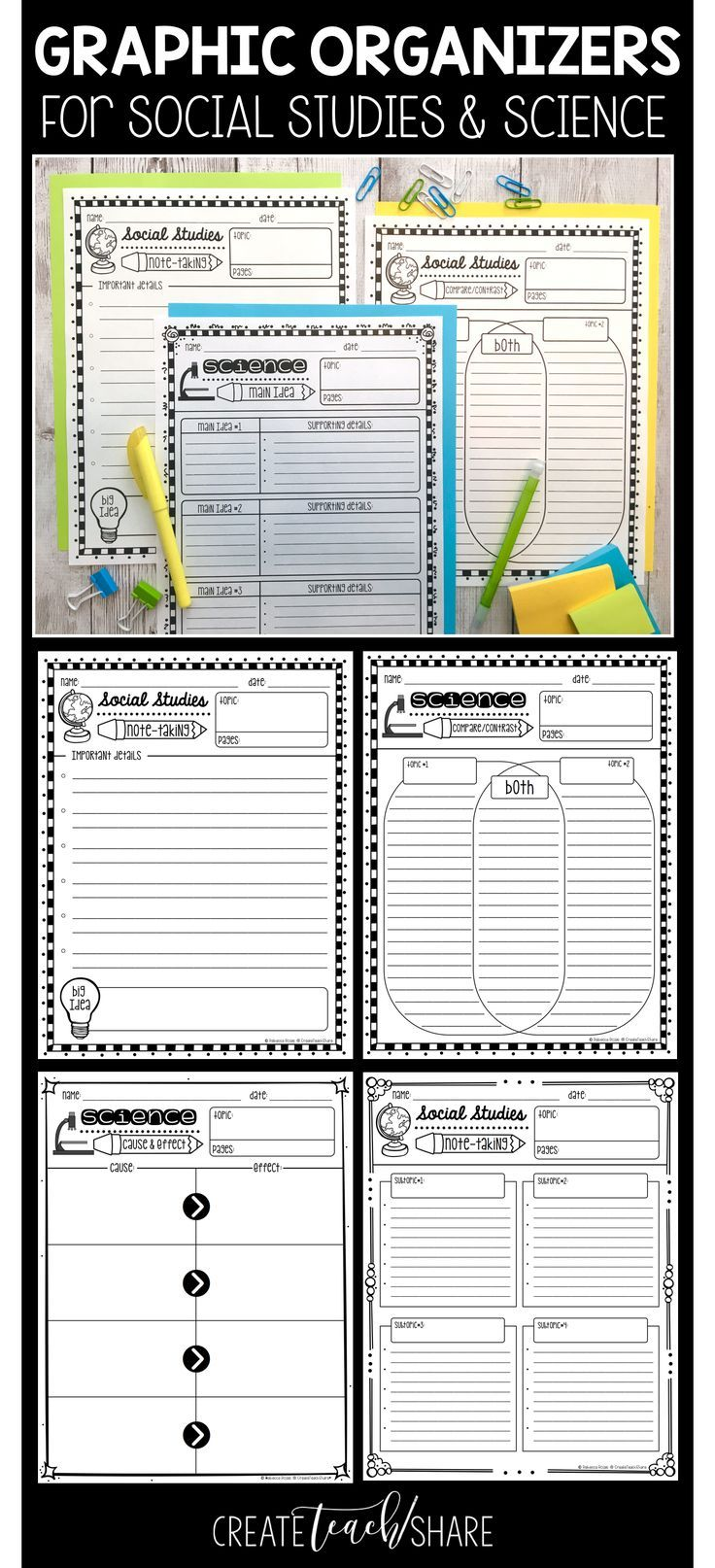 These Graphic Organizers Are Perfect For Addressing Informational Reading Standards Using Your Socia Social Studies Graphic Organizers 6th Grade Social Studies [ 1614 x 736 Pixel ]