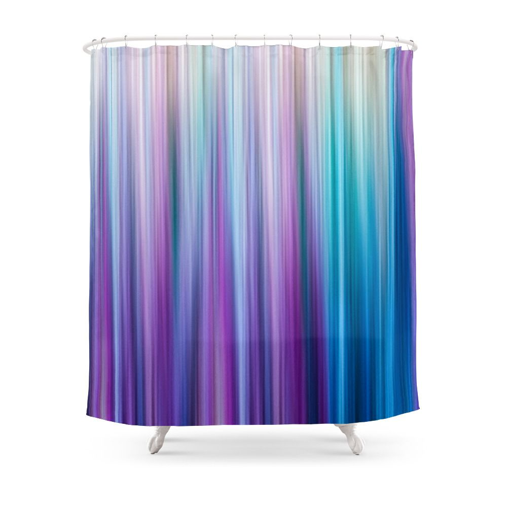 Abstract Purple And Teal Gradient Stripes Pattern Shower Curtain By Blackstrawberry In 2020 Patterned Shower Curtain Teal Shower Curtains Purple Shower Curtain