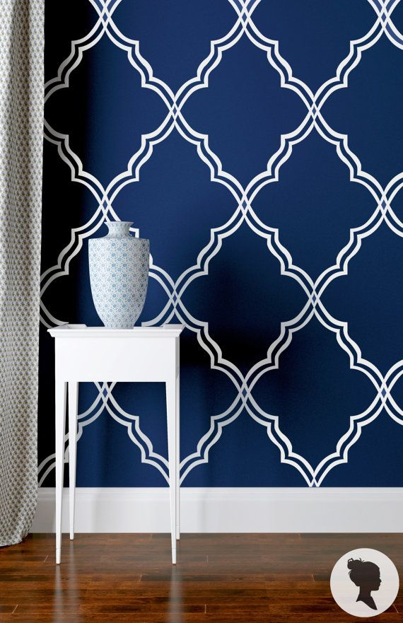 Watercolor Blueberries Removable Wallpaper Royal Blue Self