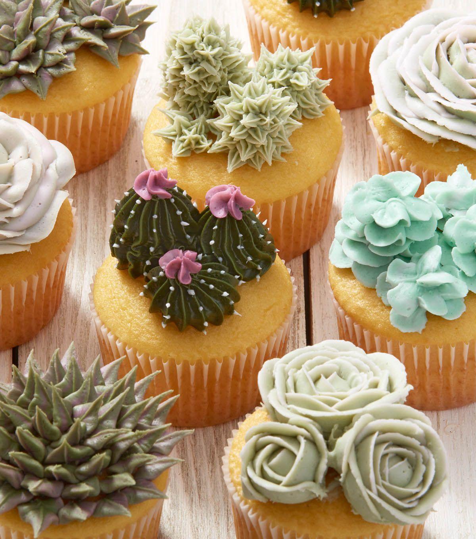 Succulent Cupcakes Tutorial Easy DIY Video