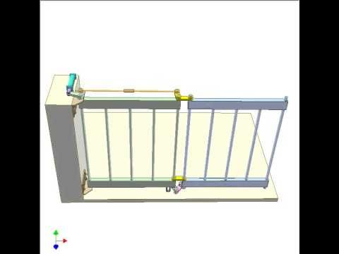 Bi Folding Gate 2 Youtube Mechanisms Pinterest