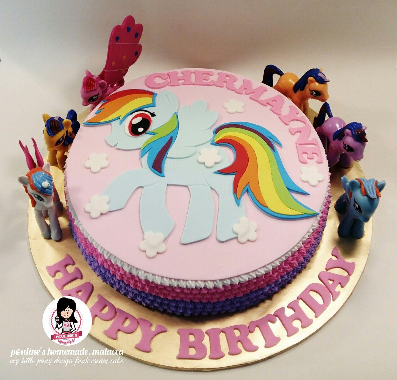 Rainbow Dash My Little Pony Design Fresh Cream Cake Little Pony Cake My Little Pony Cake Fresh Cream