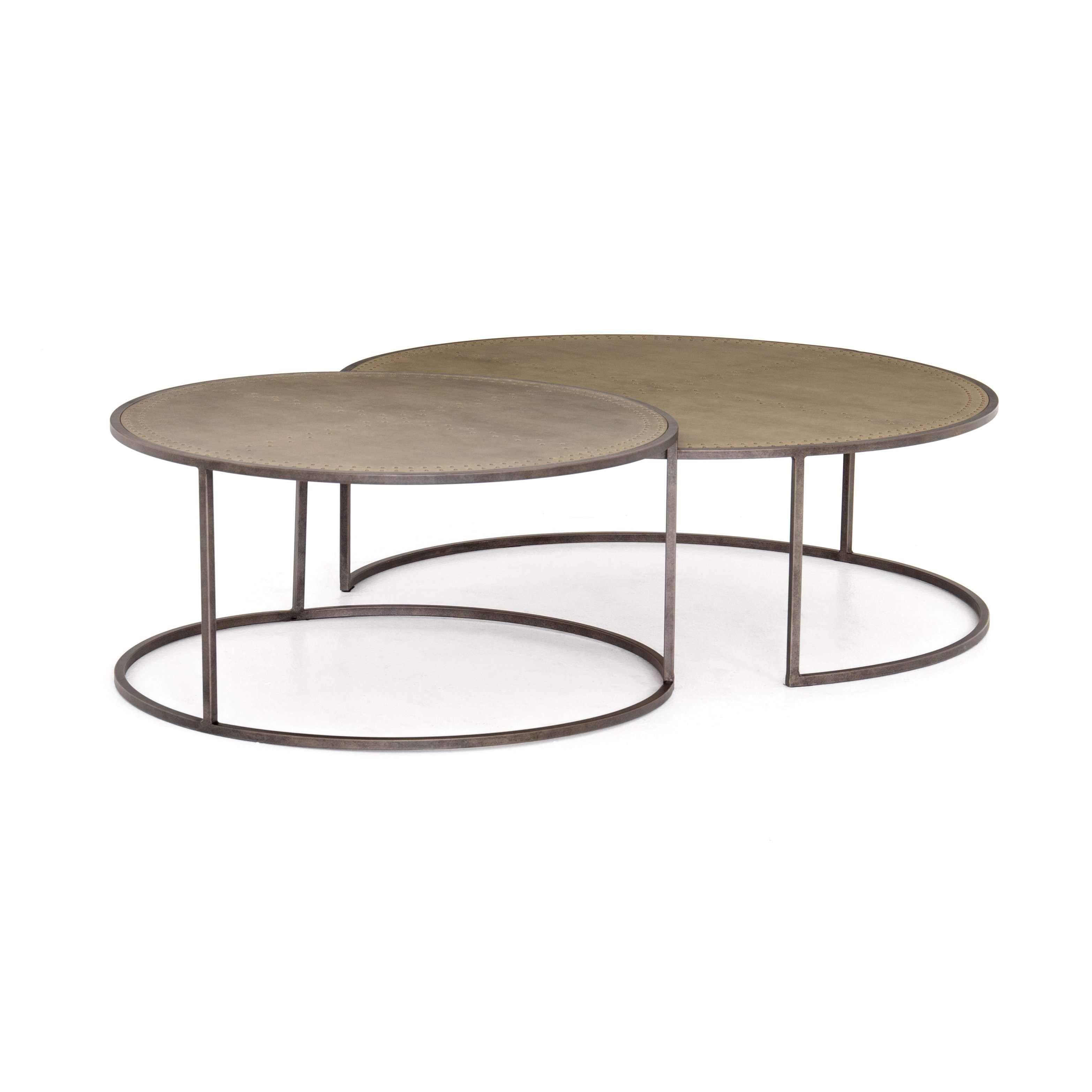 Catalina Nesting Coffee Table Galvanized France Son Nesting Coffee Tables Coffee Table Zinc Table Top