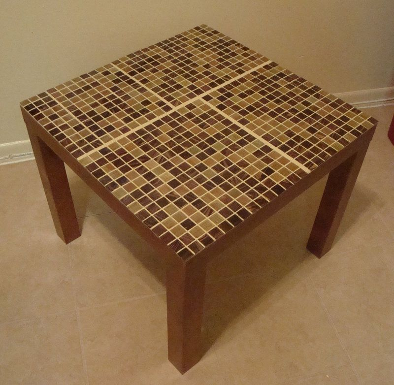 IKEA Hackers: Lack Tables Tiled... Idea: Turn Coffee Table Into Outdoor