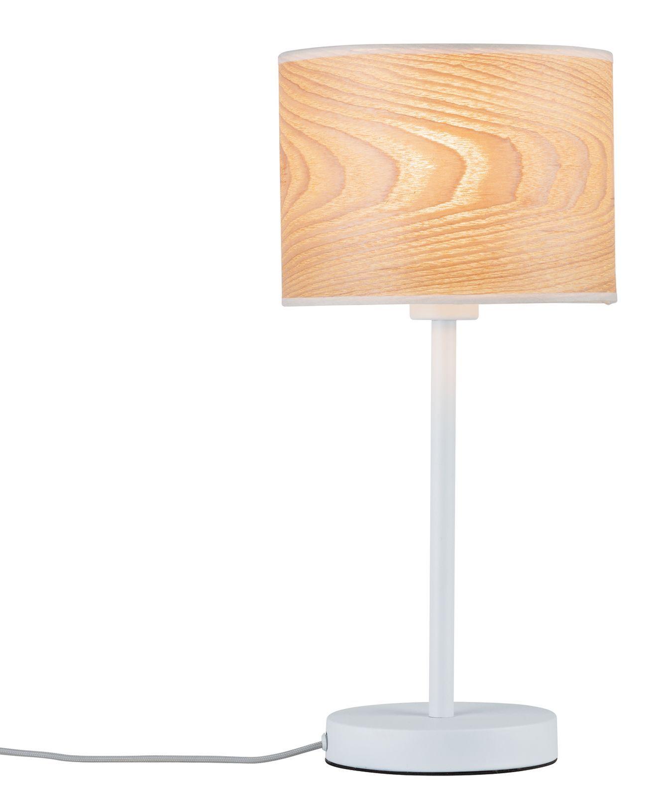 Paulmann Tischleuchte Neordic Neta 1 Flammig Weiß Holz Skandinavische Lampenlampen