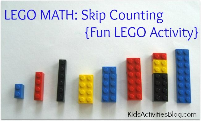 LEGO MATH: SKIP COUNTING {FUN LEGO ACTIVITY | Lego activities, Skip ...