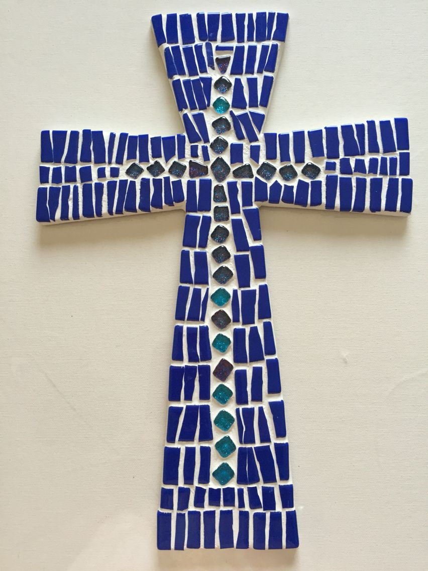 Cross template simple cross image craft ideas pinterest crosses - Cruz En Mosaico Cross Mosaic