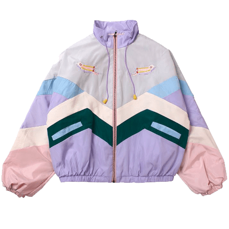 1877f127e64b Buy Pastel Colors Patches Lines Hood Rain Coat Cheap Trendy Aesthetic  Clothes and Grunge Tumblr Apparel Store. Cute Korean Style. Free Shipping  Worldwide