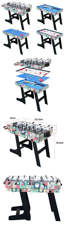 Foosball 36276: 4Ft Foldable 4 In 1 Multi Game Table Pool Table Tennis  Hockey