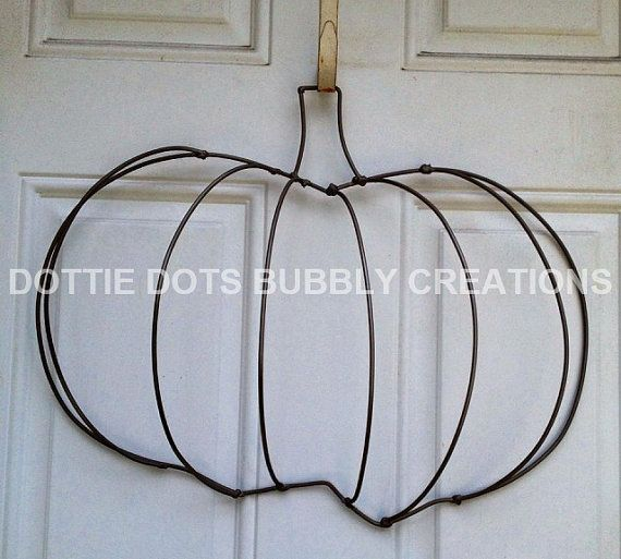 3 D Pumpkin Wire Wreath Form Etsy Wire Wreath Wire Wreath Forms Wreath Forms