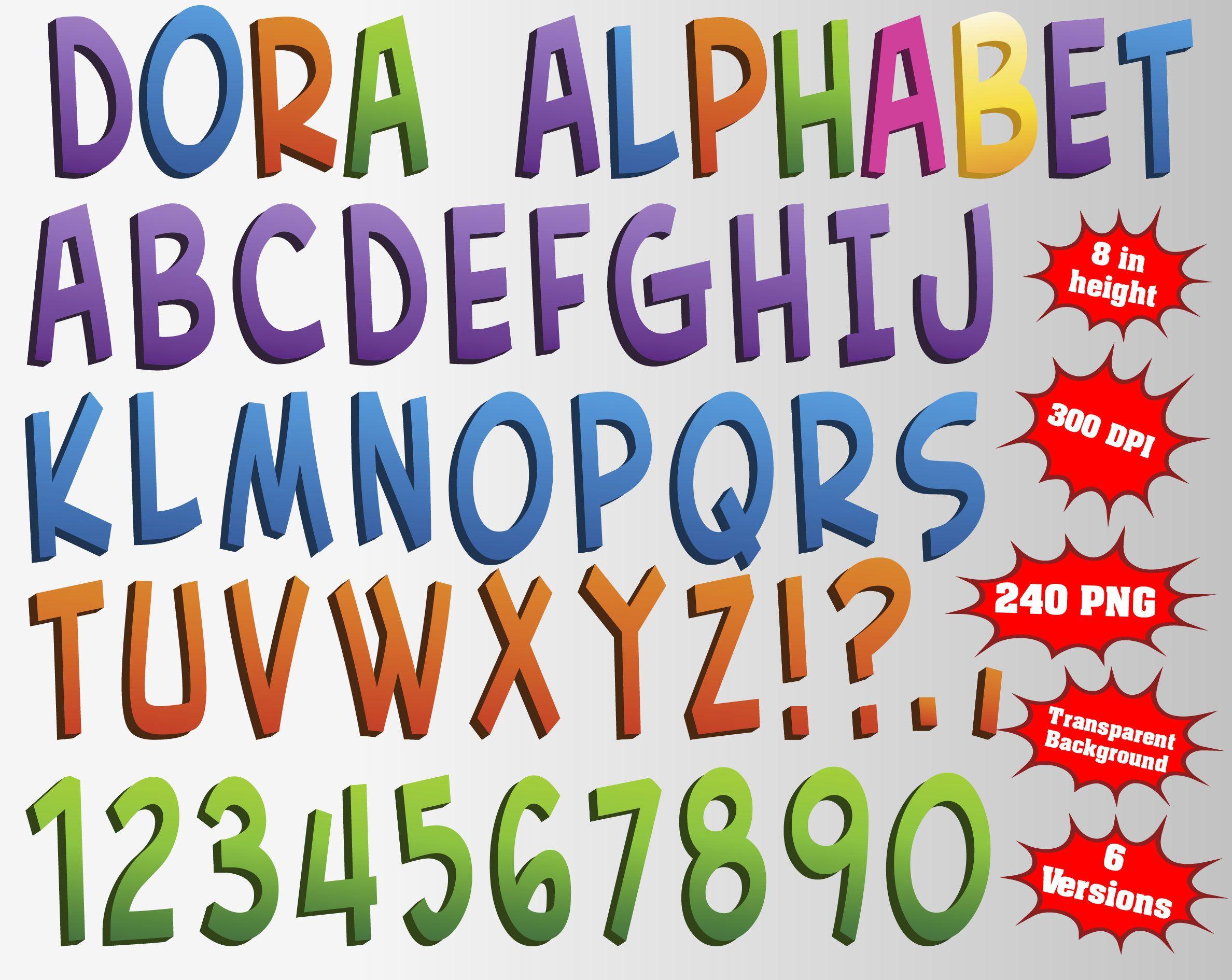 Dora The Explorer Alphabet Numbers And Symbols 240