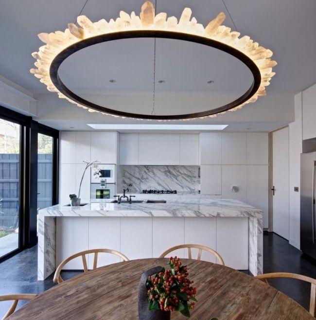 Hochglanz küche kücheninsel ohne griffe marmor arbeitsplatte - griffe für küche