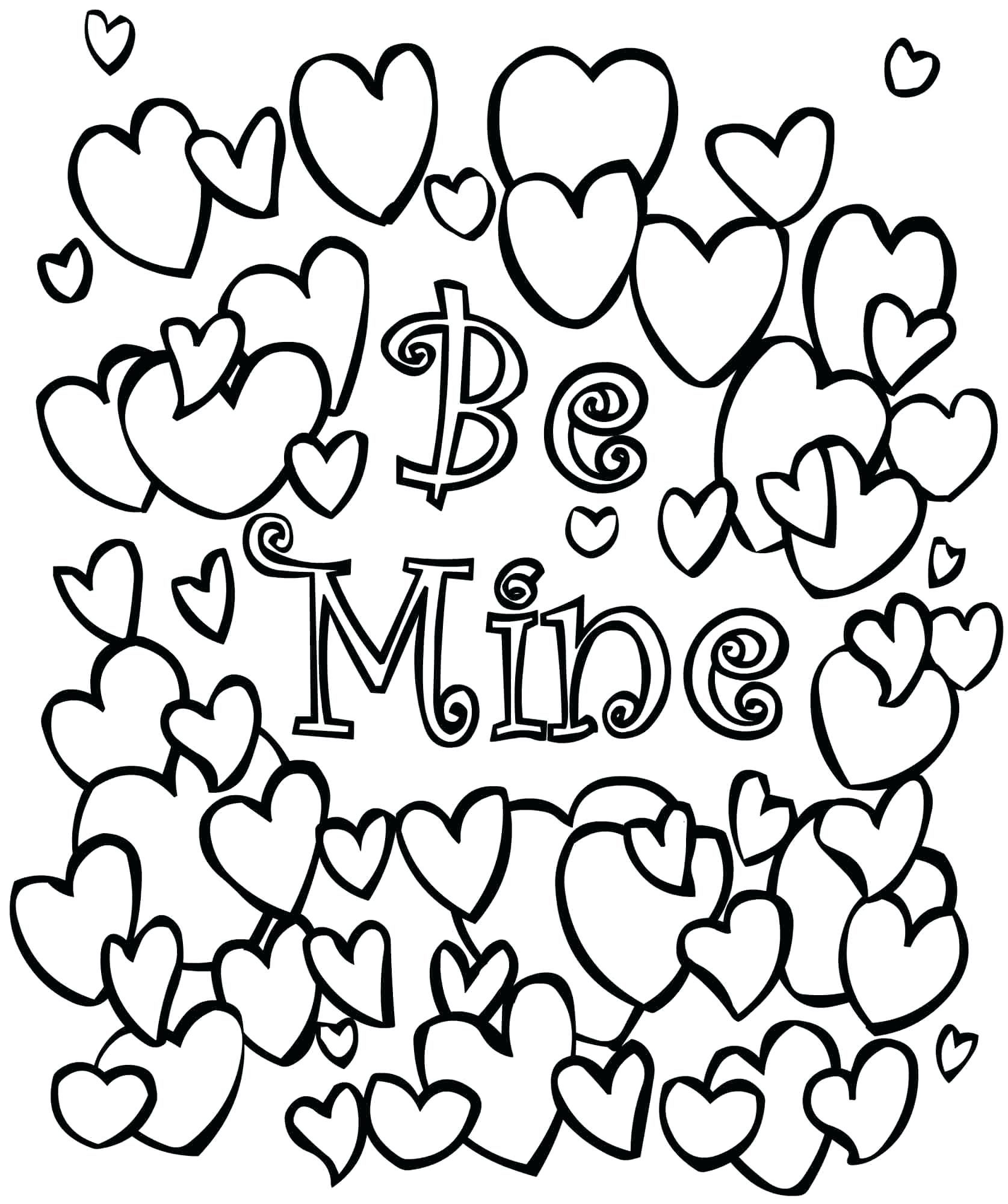 Printable Valentine Coloring Pages With Images