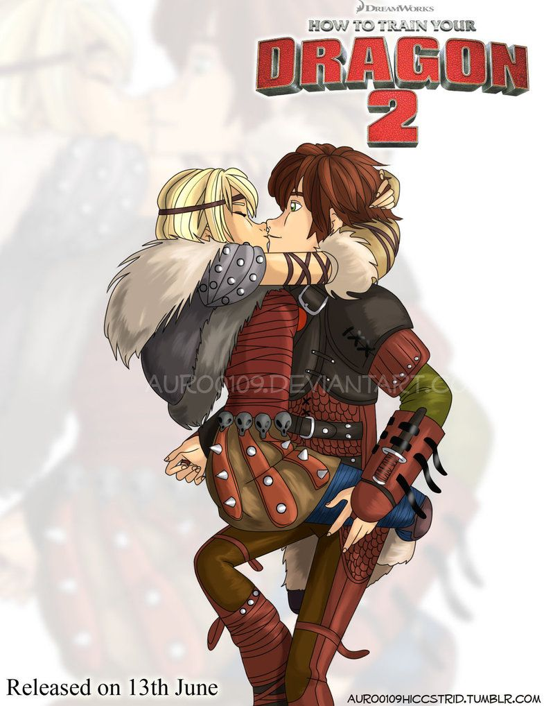 Astrid Kissing Hiccup By Auro0109 On Deviantart · Httyd 2toothlesshiccup Dreamworksdragonstrain