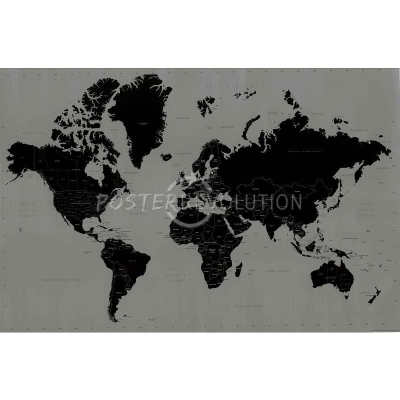 World Map (Contemporary Style) Art Poster