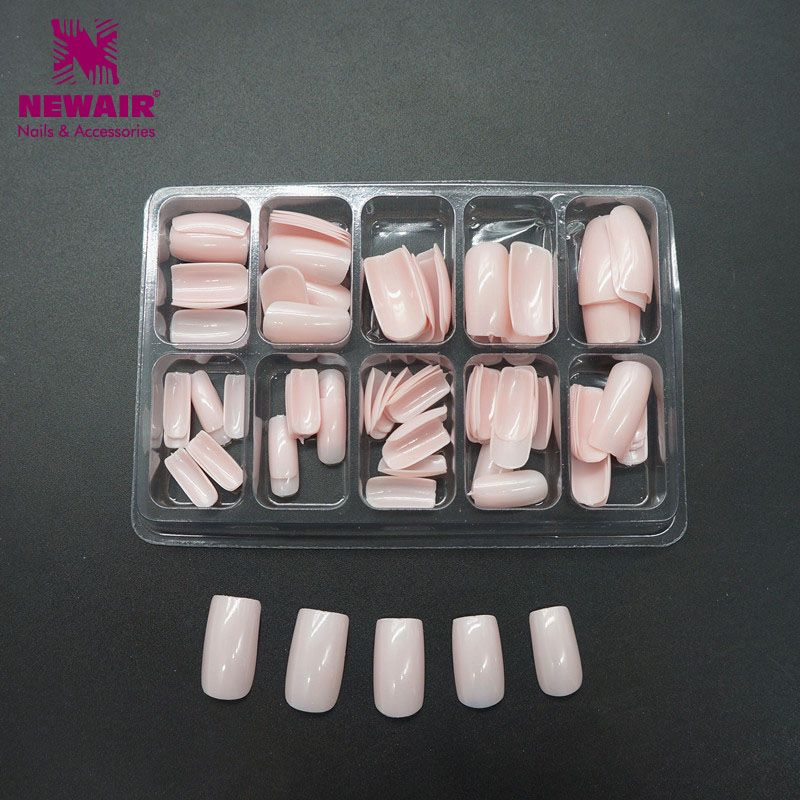 High Quality 100pcs Pink Fake Nails Acrylic Gel French Nail Salon False Tips Makeup Tools