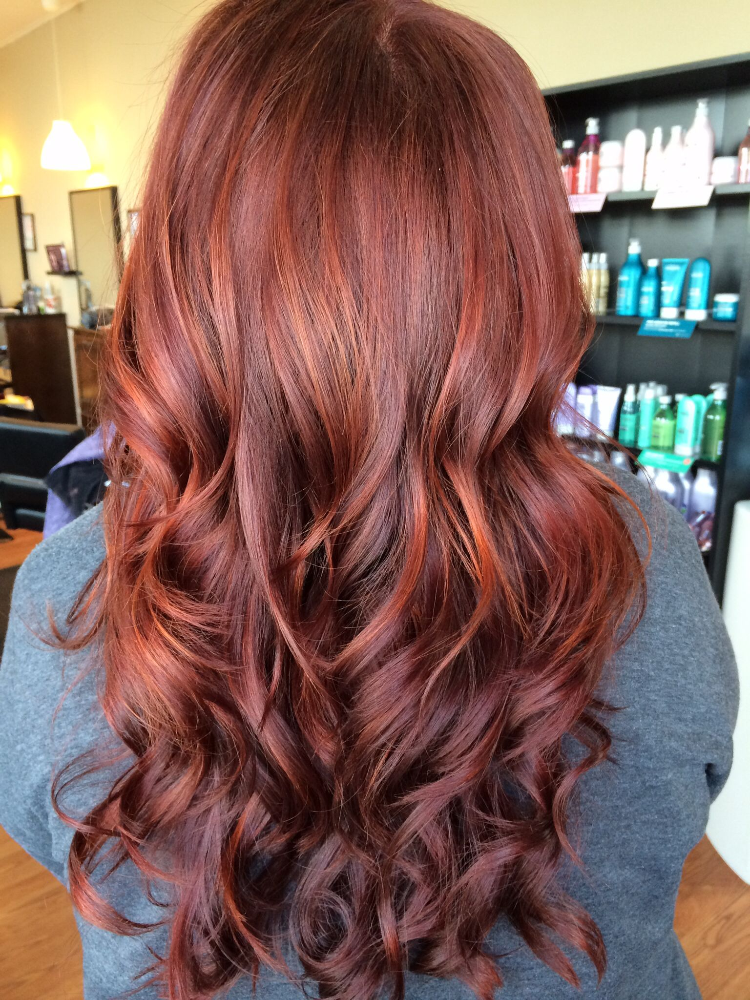 balayage highlights red hair hair on pinterest balayage. Black Bedroom Furniture Sets. Home Design Ideas
