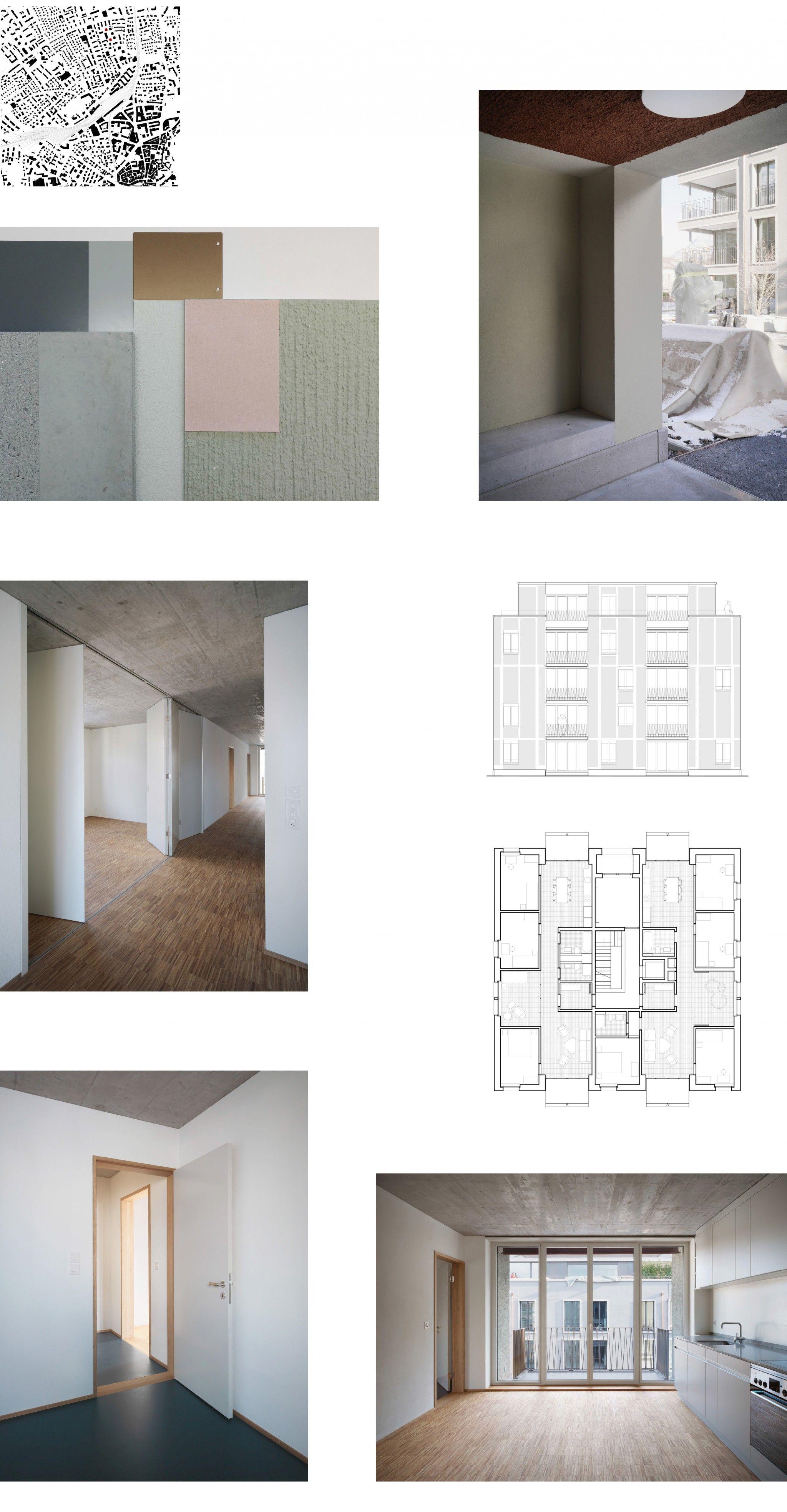 Mehrfamilienh user calandastrasse chur corinna menn floorplan architecture residential - Farbkonzept haus ...