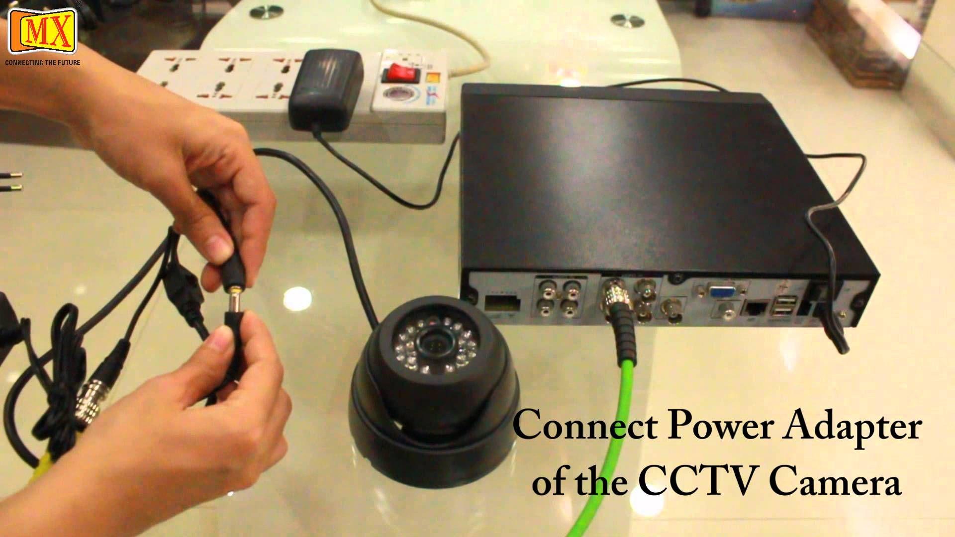 How To Connect Cctv Camera S To The Monitor Using Dvr Http Www Atvnetworks Com Index Html Cctv Camera Camera Surveillance Camera