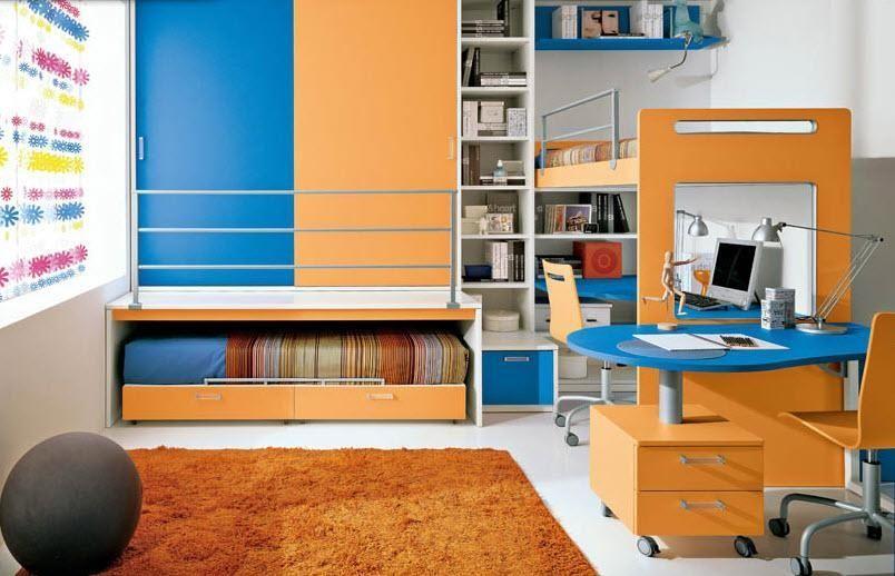 Loft Beds with Desk Design Inspiration For Kids Room  Colorful Kids