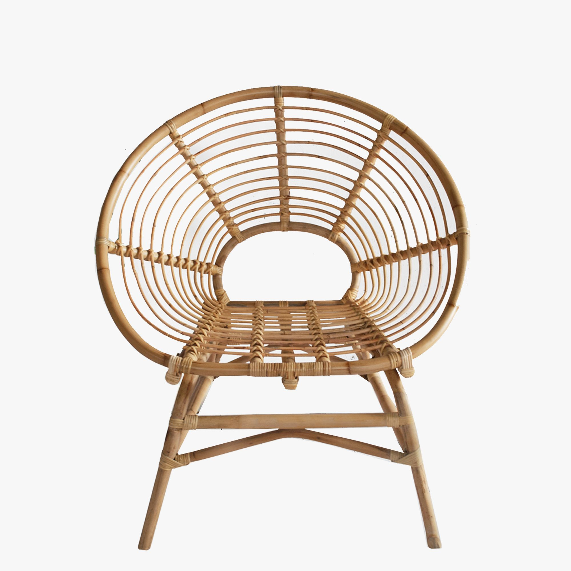 The Wend Studio Ring Rattan Chair with its open weave design and