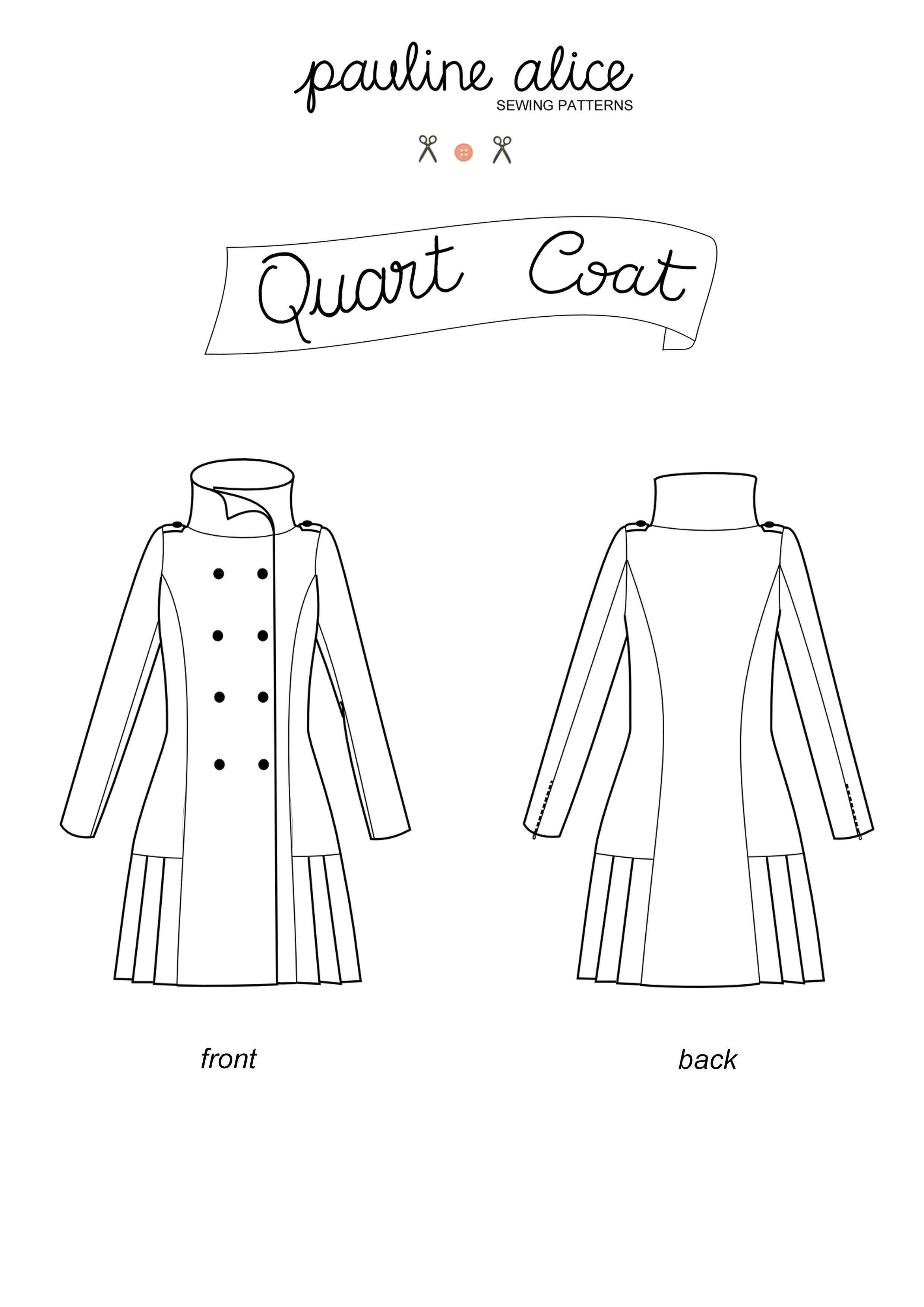 Patron manteau femme long