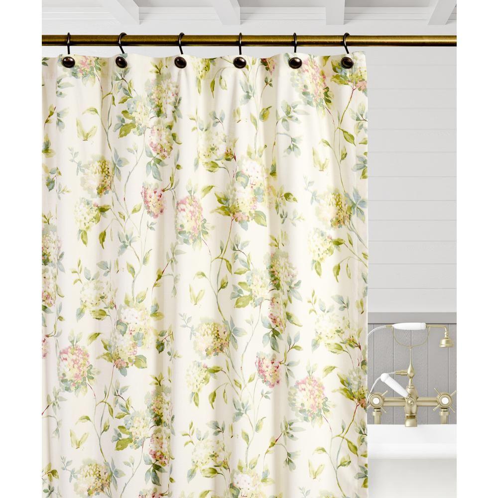 Ellis Curtain Abigail 72 In Lilac Floral Shower Curtain Purple
