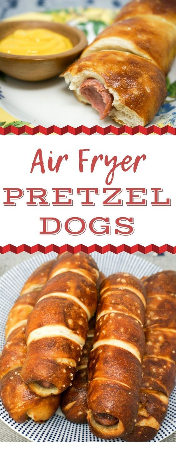Air Fryer Pretzel Dogs | Air Fryer Recipes #airfryerrecipes