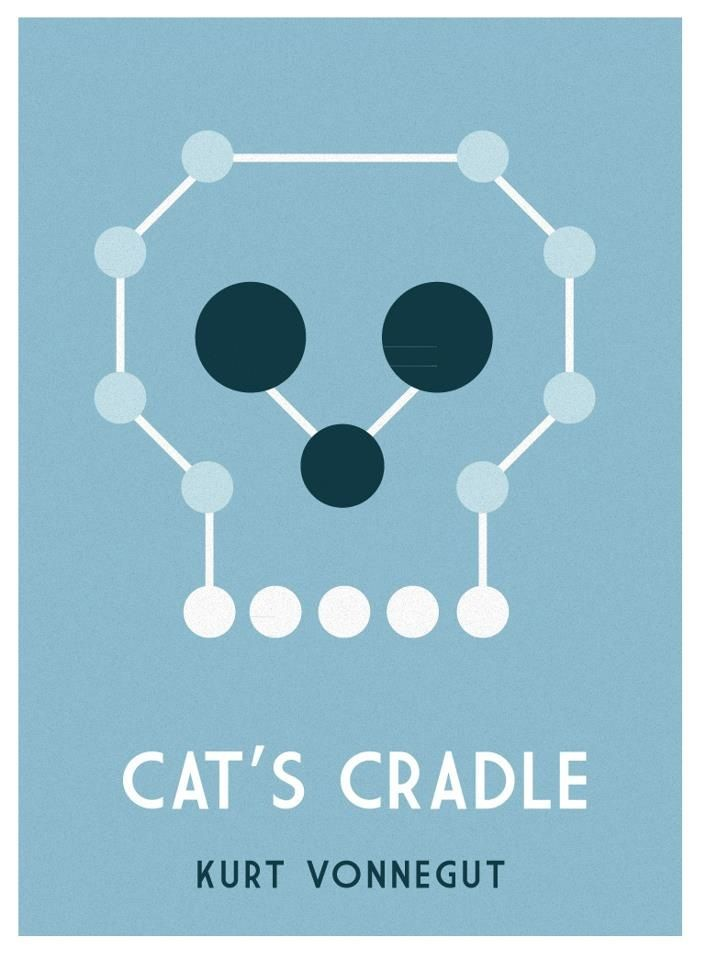 Book Cover Cat S Cradle By Kurt Vonnegut Cats Cradle Cover Art Sci Fi Books