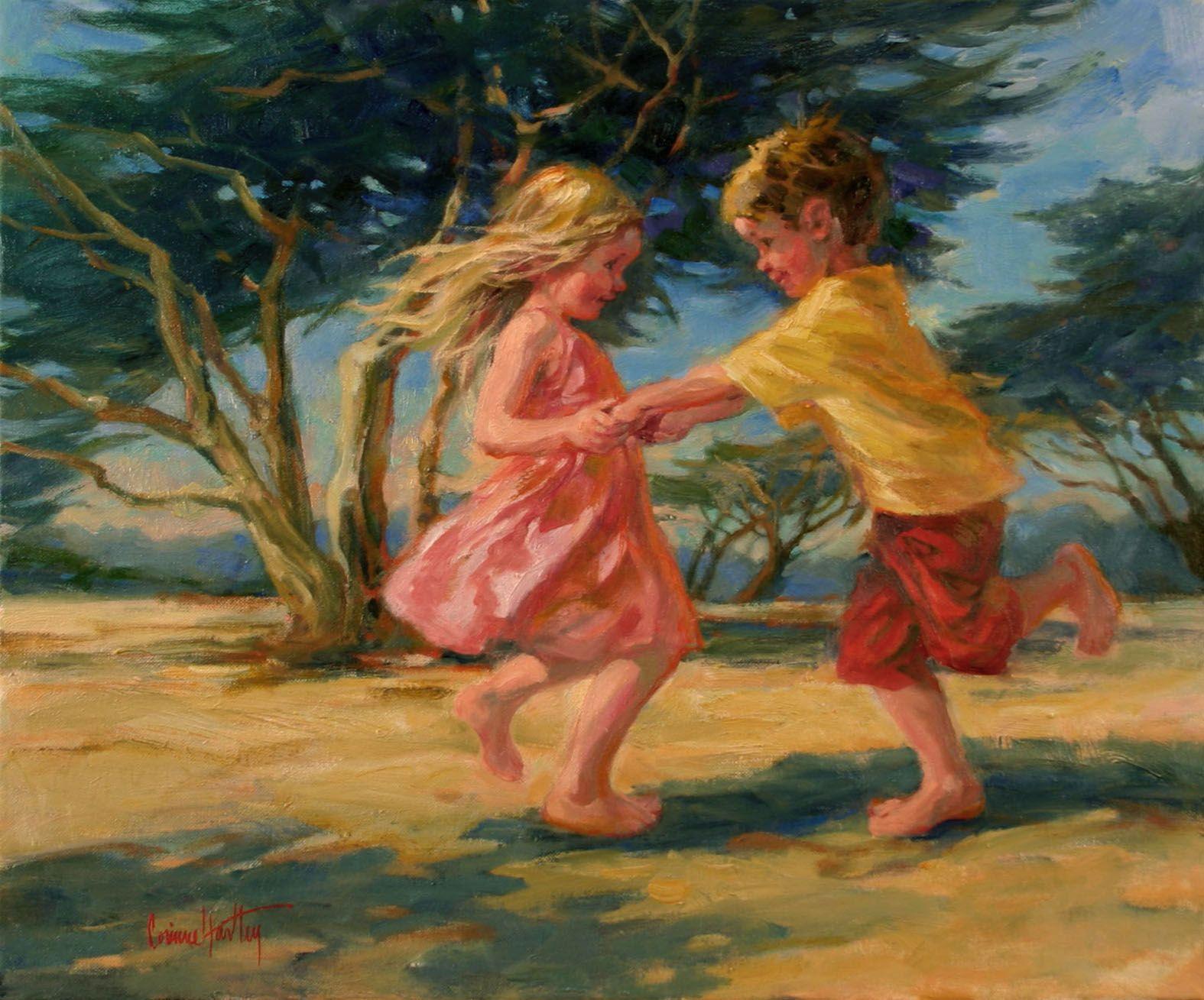 Swining In The Sand Galleries In Carmel California Jones Terwilliger Corinne Hartley Art Painting Art Pictures Dance Paintings