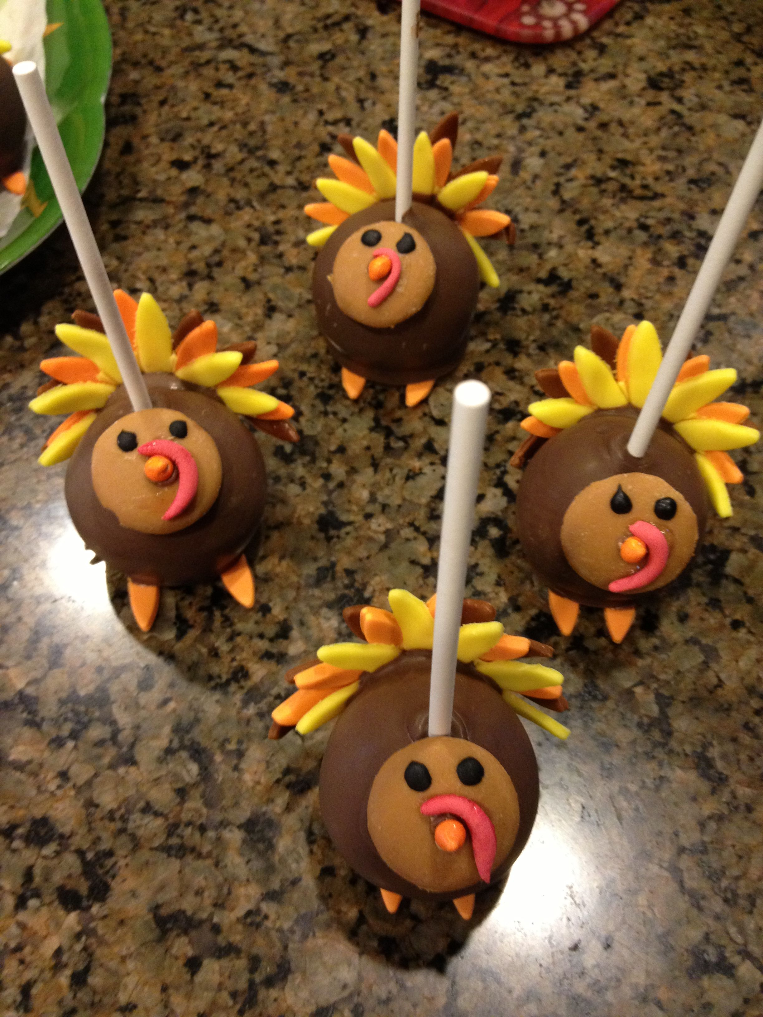 Turkey Cake Pops My Cakes And Yummy Creations Party