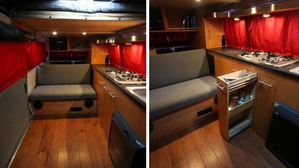 Amenagement moderne combi vw cabane mobil home pinterest for Interieur combi vw