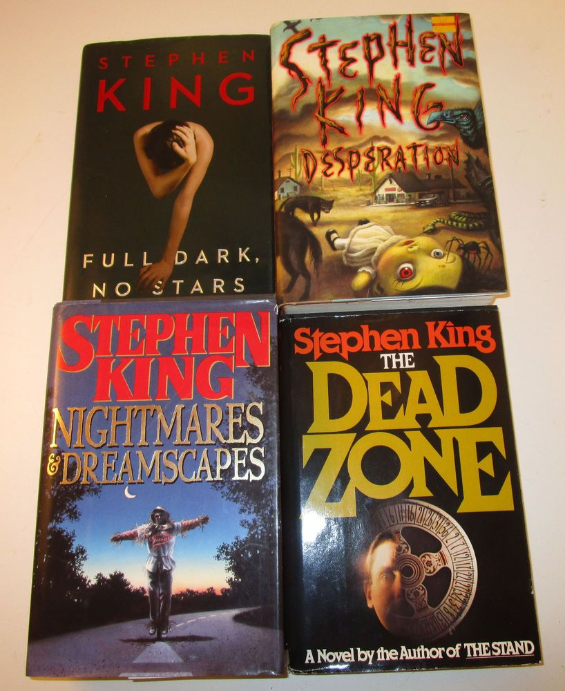 Lot 4 Stephen King Hardcover Books First Edition Full Dark No Stars MORE LOOK