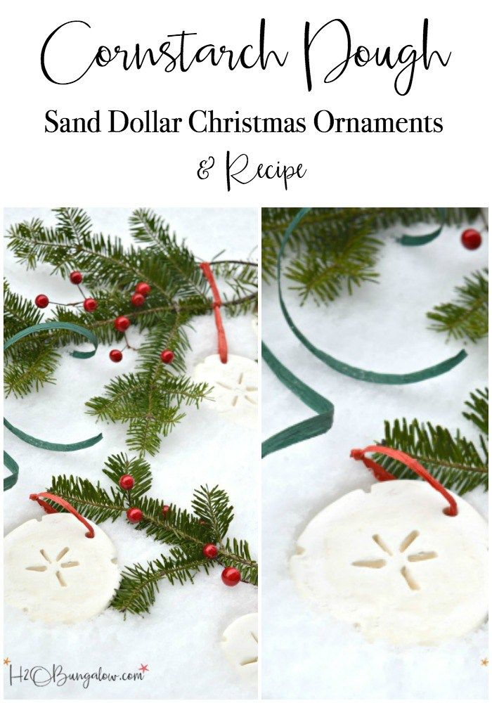 Cornstarch Dough Christmas Ornaments And Recipe - H20Bungalow
