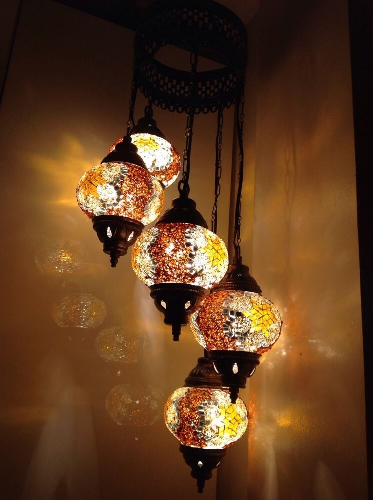 Golden orange turkish moroccan tiffany style glass mosaic lamp golden orange turkish moroccan tiffany style glass mosaic lamp chandelier 5 bulb aloadofball Gallery