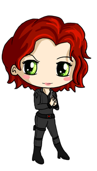 Black Widow Chibi by IcyPanther1.deviantart.com on @deviantART