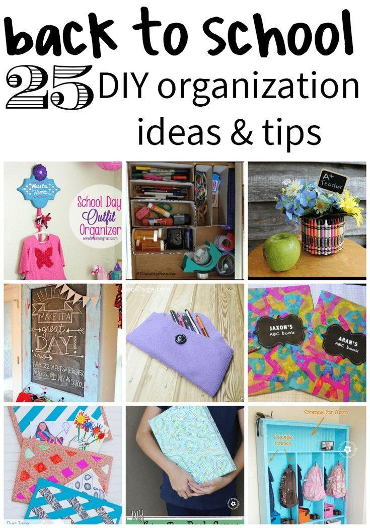 25 Back to School DIY Organization Ideas #backtoschool