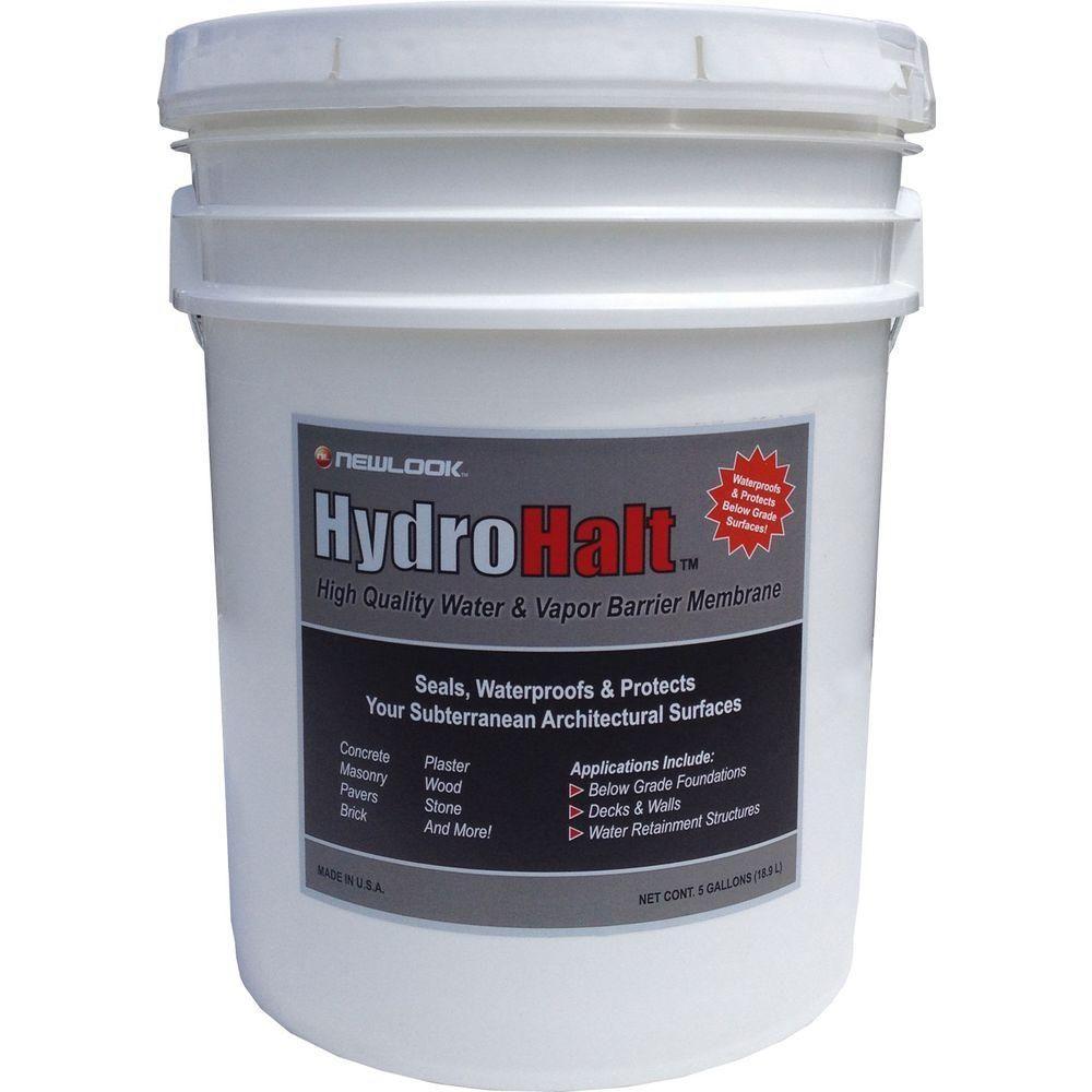 Hydrohalt 5 Gal Water And Vapor Barrier Membrane Hydhlt5g Exterior Stain Concrete Grey Exterior