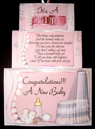 Xtenda Baby Girl Card Kit card making Pinterest Card kit, Baby