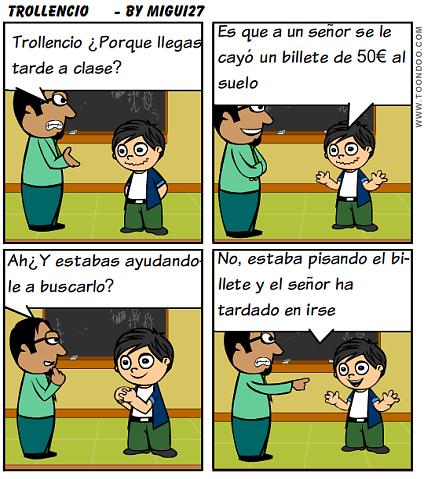 comic sobre la puntualidad hecho con Toondoo por Miguel