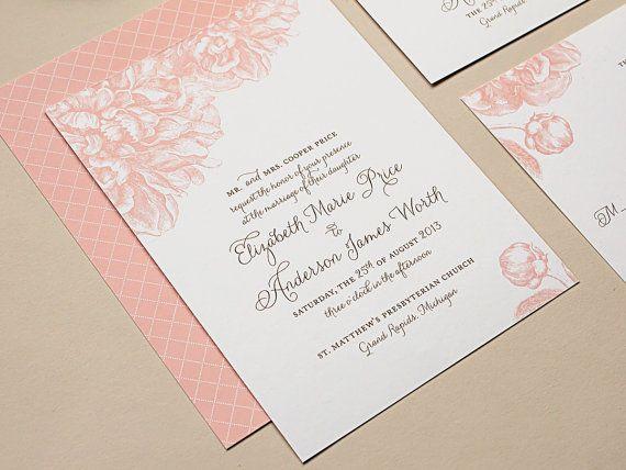 Vintage Pink Wedding in Connecticut Romantic wedding invitations - fresh invitation dalam bahasa inggris
