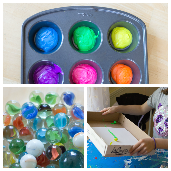Marble Painting for Kids #marblepainting