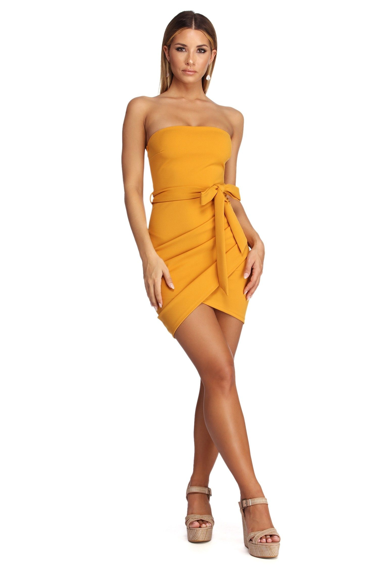 Pin By Almacoproducts Com On Windsor Dresses Fashion Yellow Mini Dress [ 2247 x 1500 Pixel ]